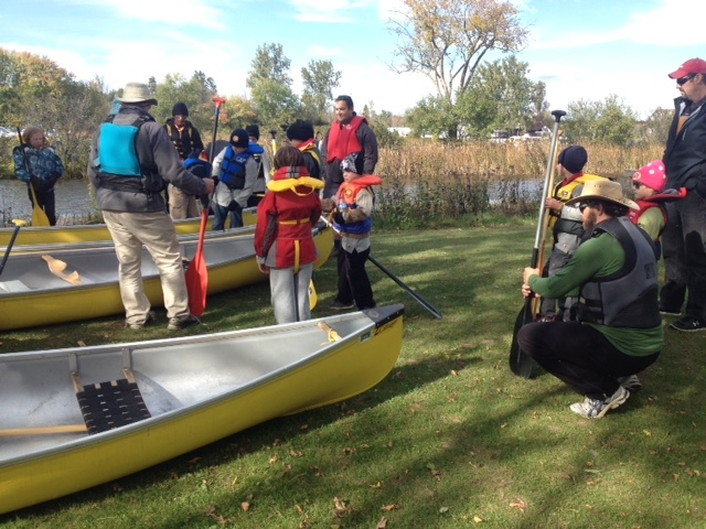 Canoe getting ready to move 2015