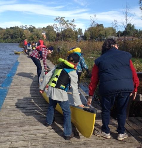 Canoe launching 2015